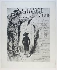image of Pictorial menu in poster style, (Edward Cleary in the Chair)]