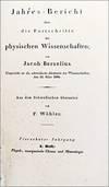 View Image 2 of 3 for Jahres-Bericht uber die Fortschritte der physischen Wissenschaften von Jacob Berzelius. Eingereicht ... Inventory #EEG1024
