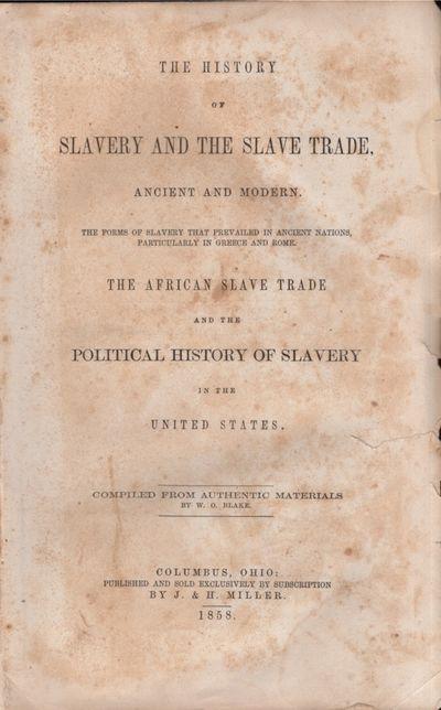 Columbus, Ohio: J. & H. Miller, 1858. Later printing. Hardcover. Fair. Thick quarto. xvi, 17-861 pag...