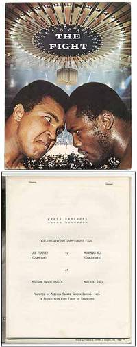 image of [Press Brochure]: World Heavyweight Championship Fight. Joe Frazier (Champion) vs Muhammad Ali (Challenger) at Madison Square Garden March 8, 1971 Promoted by Madison Square Garden Boxing, Inc. In Association with Fight of Champions