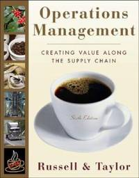 Operations Management : Creating Value along the Supply Chain