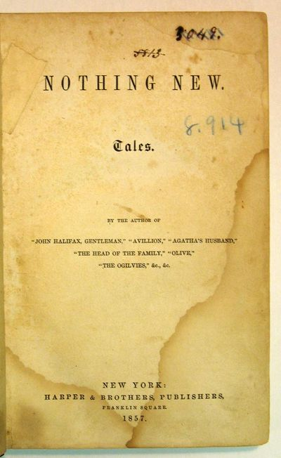 New York: Carleton, 1861. 1st US edition (Edgar & Vail, p. 29). Black qtr leather with marbled board...