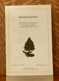 image of BOOKS ABOUT THE MAINE WOODS, CATALOGUE OF AN EXHIBIT OF WORKS IN MAINE LITERATURE AND FOREST HISTORY