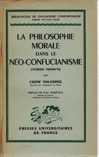 La philosophie morale dans le Néo-Confucianisme (Tcheou Touen-Yi)