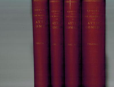 Leiden, The Netherlands: E. J. Brill, 1957. Three books in 4 volumes, original red cloth, gilt title...