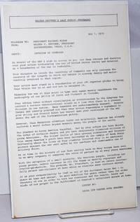 image of Walter Reuther's last public statement [handbill]