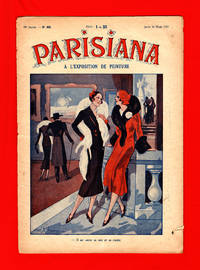image of Parisiana - Jeudi 16 Mars 1933. Art Deco/Nouveau. Pin-up; light erotica; cover art by Marcel Bloch; rear cover art by Rene Giffey