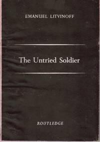 The Untried Soldier. (Poems); Small 8vo, original black and white printed wrappers