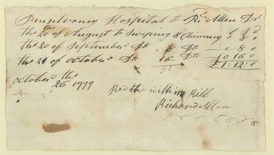 Manuscript Document, Signed, October...