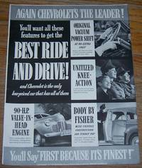 1941 CHEVROLET'S THE LEADER LIFE MAGAZINE ADVERTISEMENT