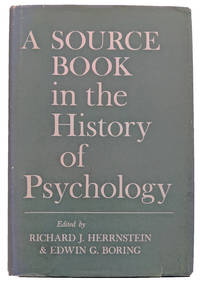 A Source Book in the History of Psychology.