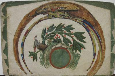 Large manuscript anamorphosis