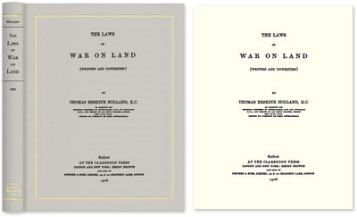 2009. ISBN-13: 9781584776598; ISBN-10: 1584776595. A Code of Land Warfare Holland, Thomas Erskine. T...