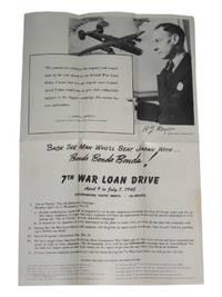 Back the Man Who'll Beat Japan with Bonds Bonds Bonds! ! ! [Consolidated Vultee Convair War Bond Brochure]