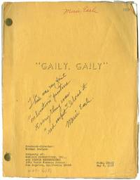 Gaily, Gaily (Original screenplay for the 1969 film, copy belonging to actress Merie Earle)