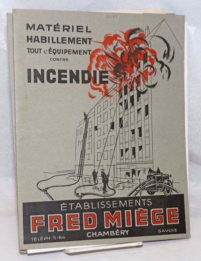Chambery, France: Establissements Fred Miege, 1930. Collection of items from the French company that...