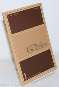 image of Journal of Homosexuality: vol. 4, #1, Fall 1978