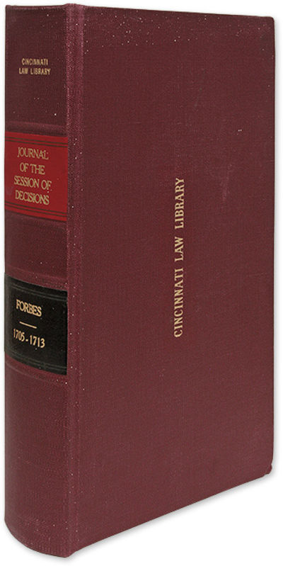 1759. Forbes's Journal of the Session of Decisions, 1705-1713 Forbes, William . A Journal of the Ses...