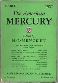 The American Mercury: Vol. XXII, No. 87, March 1931