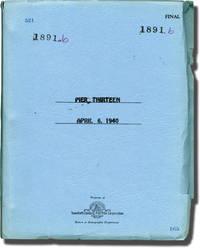Pier 13 (Original screenplay for the 1940 film)