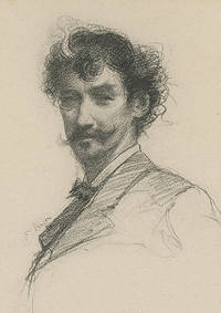 Lithographed portrait of James McNeill Whistler, after a chalk sketch by Paul Adolphe Rajon