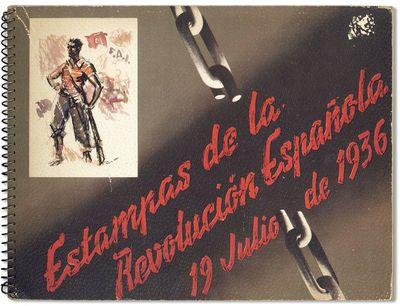 : Oficinas de Propaganda C.N.T./F.A.I., 1937. First Edition. Oblong 4to (25.5cm x 34cm). Spiral-boun...