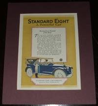 image of Original 1920 Full Page Color Advertisement for the Standard Eight Made by  Standard Steel Car Company