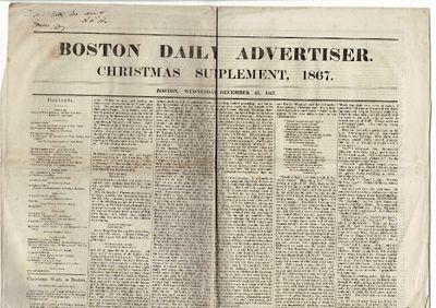 Boston: Boston Daily Advertiser, 1867. Newspaper issue, 23