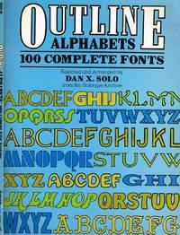 OUTLINE ALPHABETS 100 COMPLETE FONTS