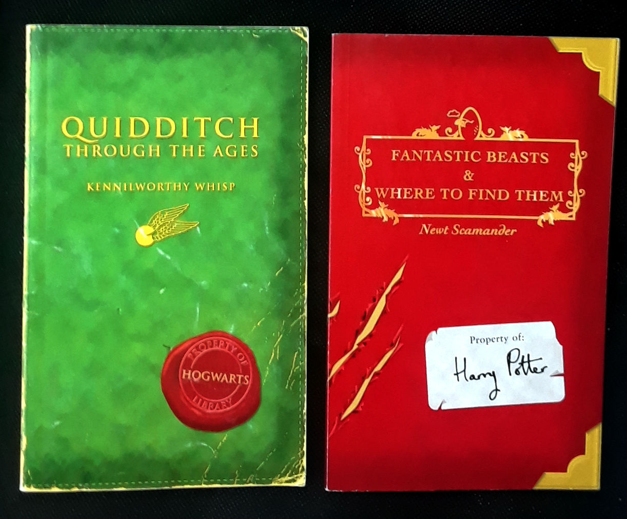 QUIDDITCH THROUGH THE AGES/...FANTASTIC BEASTS & WHERE TO FIND THEM by J.K  ROWLING - Paperback - FIRST PRINTINGS - 2001 - from RB BOOKS (SKU:  Bookseller: RB BooksCA333)