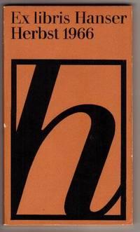 Ex Libris Hanser 7; Herbst 1966.