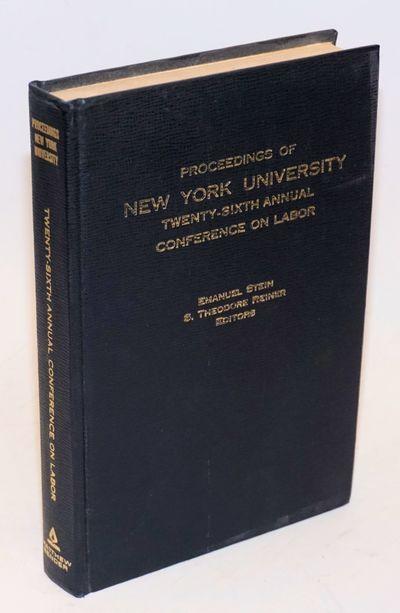 New York: Matthew Bender, 1974. v, 354p., hardback without dj, clean, tight binding. Articles on var...