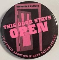 image of This door stays OPEN [pinback button]