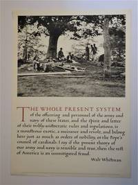 image of Photogravure Broadside - THE WHOLE PRESENT SYSTEM.....