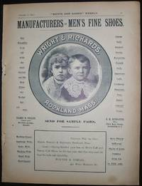 image of 1890 Full Page Illustrated Ad for Wright and Richard Shoe Co. Rockland,  Mass