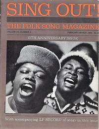"""""""SING OUT! THE FOLK SONG MAGAZINE"""", Volume 16, Number 1, February-March 1966.  15th Anniversary Issue  [with LP Record]"""