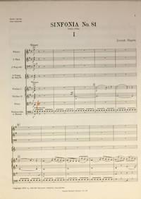 Sinfonia Nr. 81. Herausgegen von H.C. Robbins Landon, Partitur