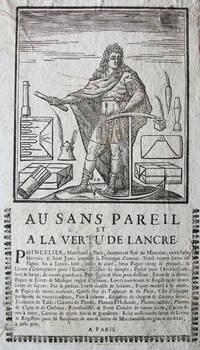 """Two Manuscript Volumes Dealing with the Estate of Madame Duquesnoy, widow of Pierre Duquesnoy, """"Conseiller - Secretaire du Roy"""" and """"recéveur Général des finances de Montauban"""", circa 1754, with a contemporary folio advertising broadside, for a Paris Stationer"""