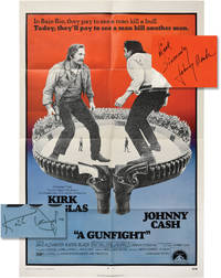 image of A Gunfight (Original poster for the 1971 film signed by Kirk Douglas and Johnny Cash)