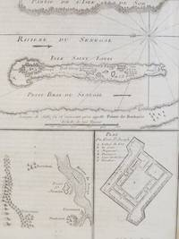 1747 Map and Plan from Prevost's 'Histoire Generale des Voyages': Plan du Fort St Joseph with Two Maps