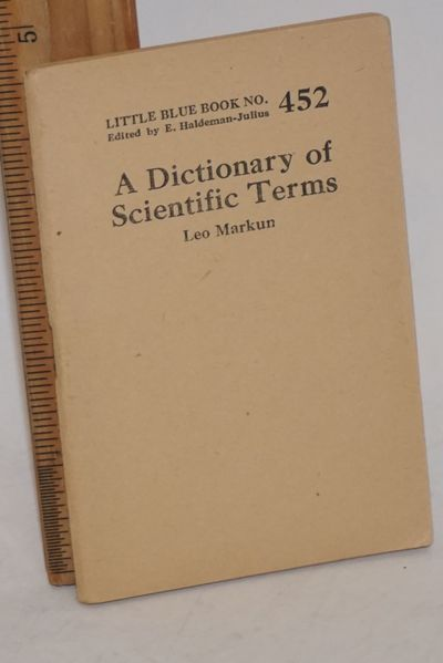 Girard, KS: Haldeman-Julius Company, n.d.. 63p., 3.5 x 5 inch wraps, very good. Little blue book no....