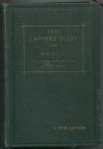 Newark: New Jersey Law Journal, 1960. Hardcover. Very Good. 1961 edition. Thick octavo. 976pp. Gilt-...