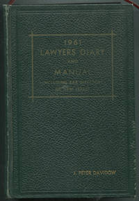 1961 Lawyers Diary and Manual Including Bar Directory of New Jersey