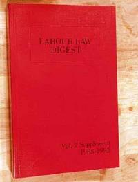 Labour Law Digest Volume 2 Supplement