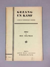 Gezang un kamf: a book of contemporary choruses