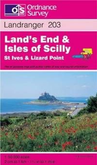 image of Land's End and Isles of Scilly, St.Ives and Lizard Point (Landranger Maps)