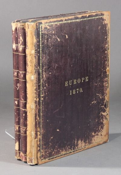 February 19 to October 13, 1870. 3 volumes, small folio, approx. 250 pages, approx. 65,000 words, in...