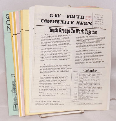 San Francisco: Gay Youth Community Coalition of the Bay Area, 1992. Fourteen issues, various paginat...