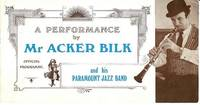 A PERFORMANCE BY MR. ACKER BILK AND HIS PARAMOUNT JAZZ BAND:  Official Programme