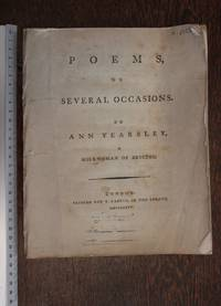 Poems on several occasions by Ann Yearsley, a milkwoman of Bristol